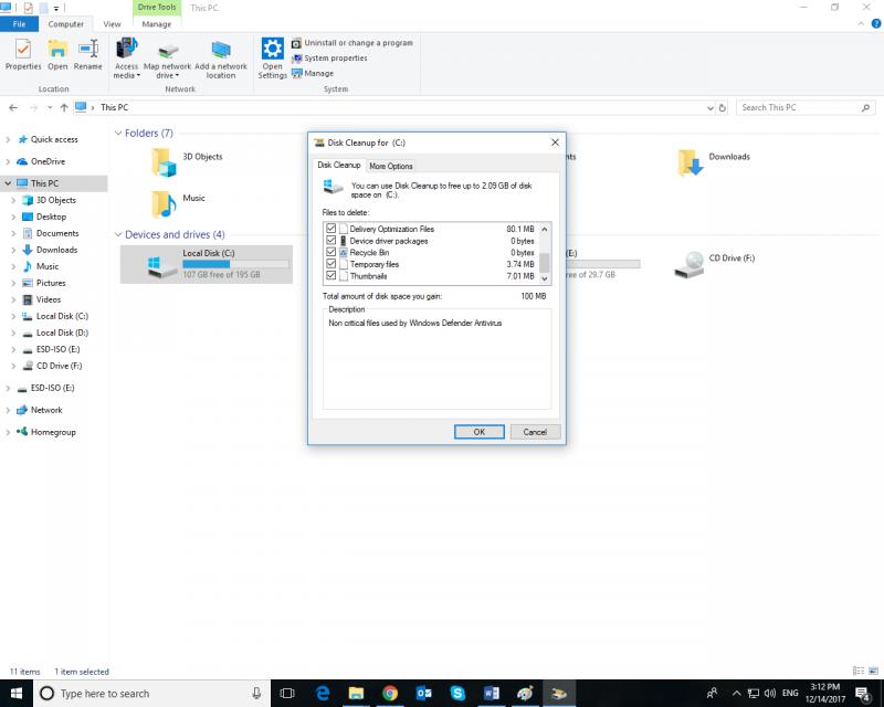 Dọn dẹp file rác trên Windows 10