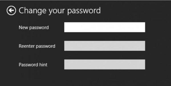 đổi mật khẩu cho máy win 8
