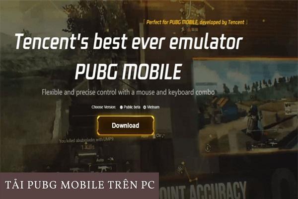 cài pubg mobile trên pc