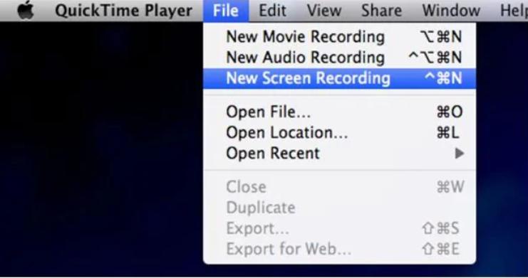 Phần mềm tự quay video trên màn hình máy tính- QuickTime