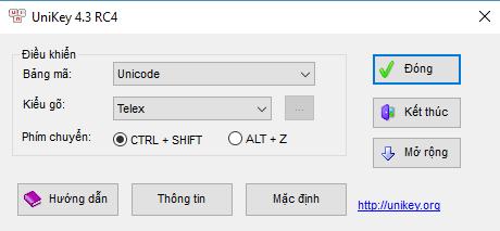 Phần mềm Unikey Telex mới nhất hiện nay cho Windows 10