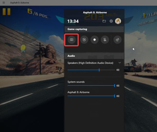 Sử dụng phím tắt chụp màn hình: Windows + Alt + PrtScn