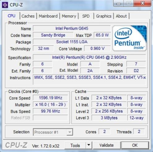 kiểm tra dung lượng máy tính bạn bằng CPU-Z