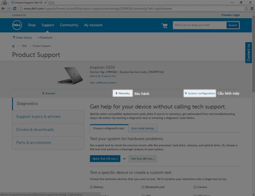 Check Service Tag Dell.1