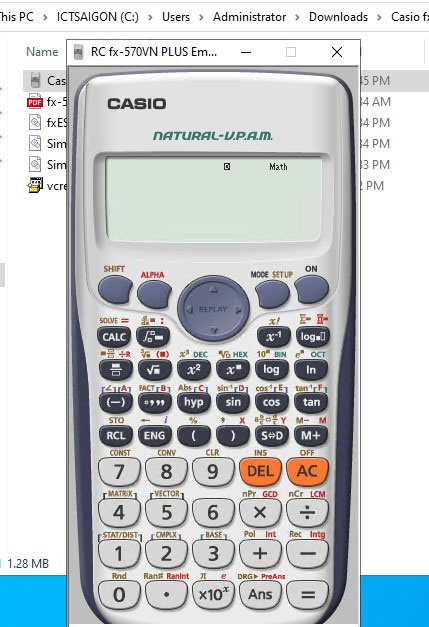 máy tính cầm tay fx 570vn plus