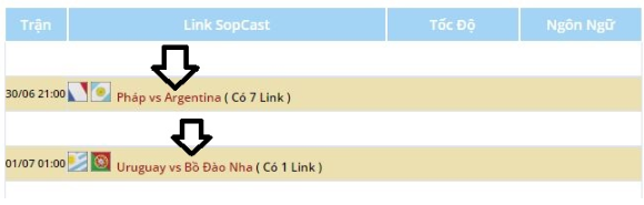 link sopcast xem bóng đá
